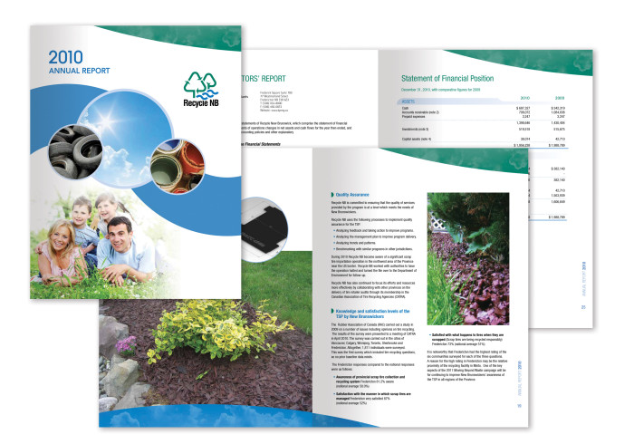 Annual Report, Recycle New Brunswick