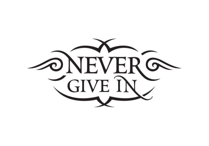 Logo - Never Give In (Jacy)