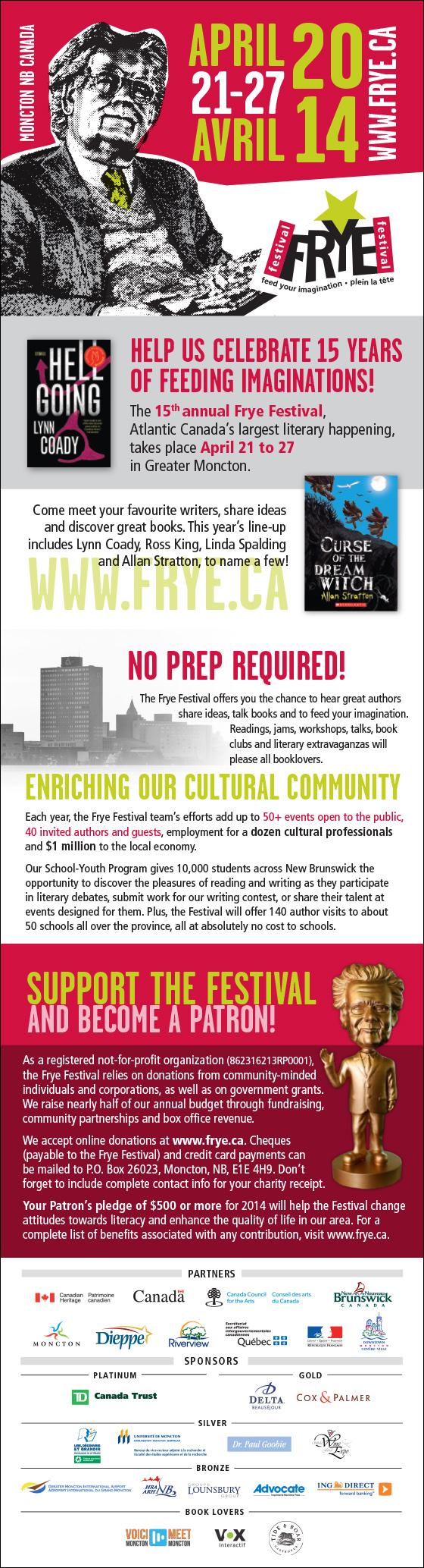 Dépliant Frye Festival