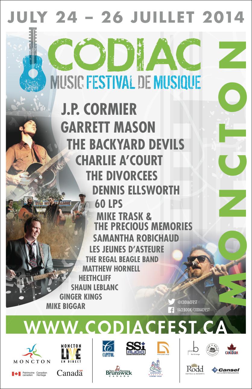 Codiac Music Festival affiche 2