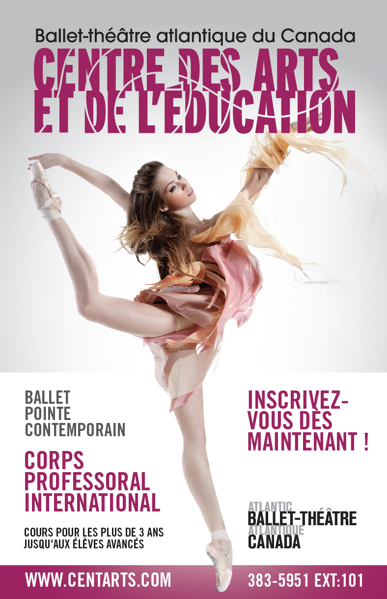Centre for arts Ballet poster FR