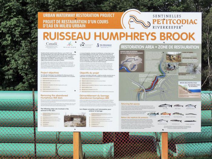 Ruisseau Humphrey Brook - Sentinelles Petitcodiac Riverkeeper